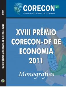 Livro de monografias já está disponível no site do Corecon-DF